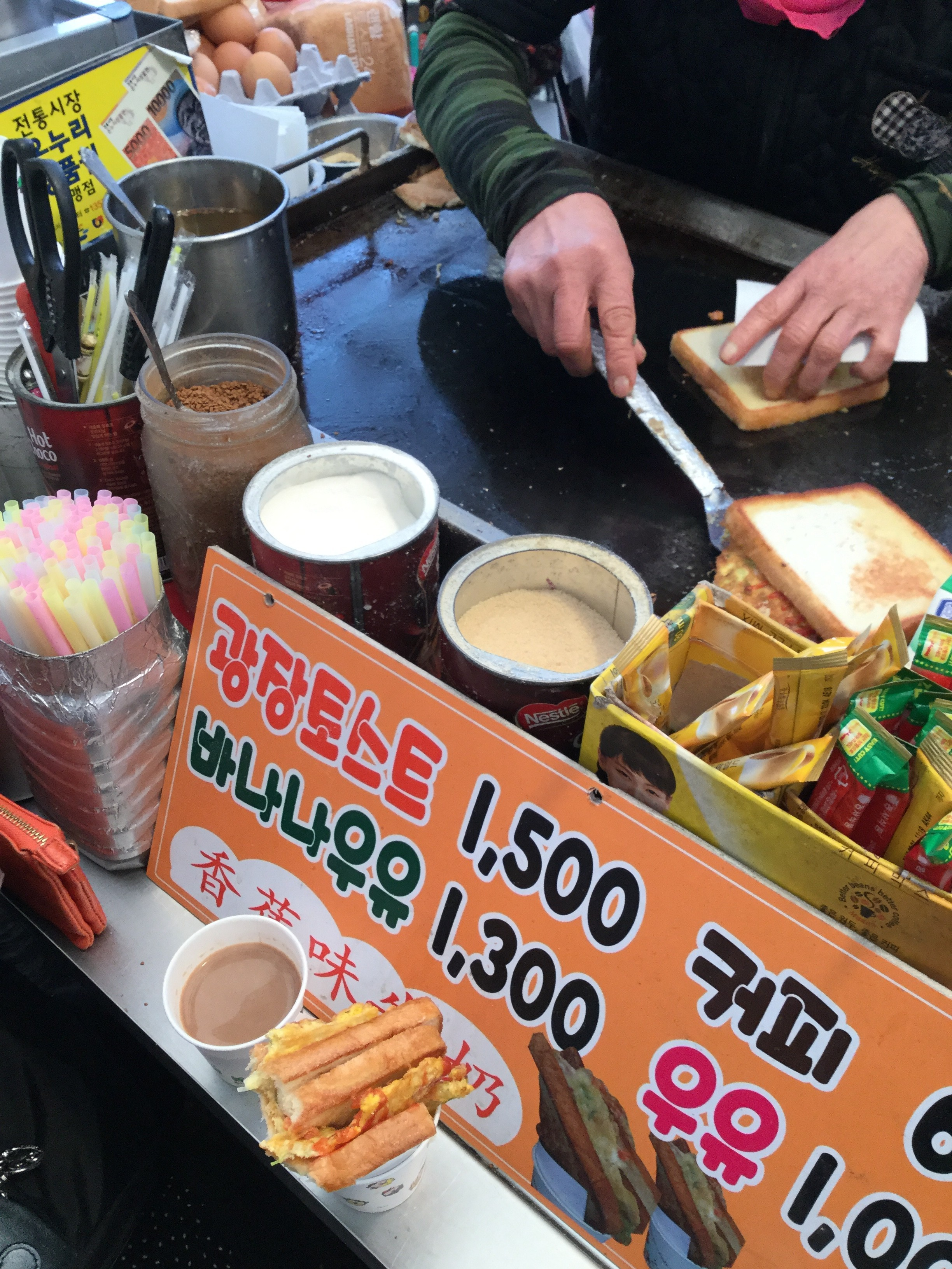 屋台の韓国トースト