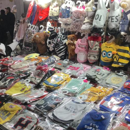 韓国 犬の服!明洞(ミョンドン)露店