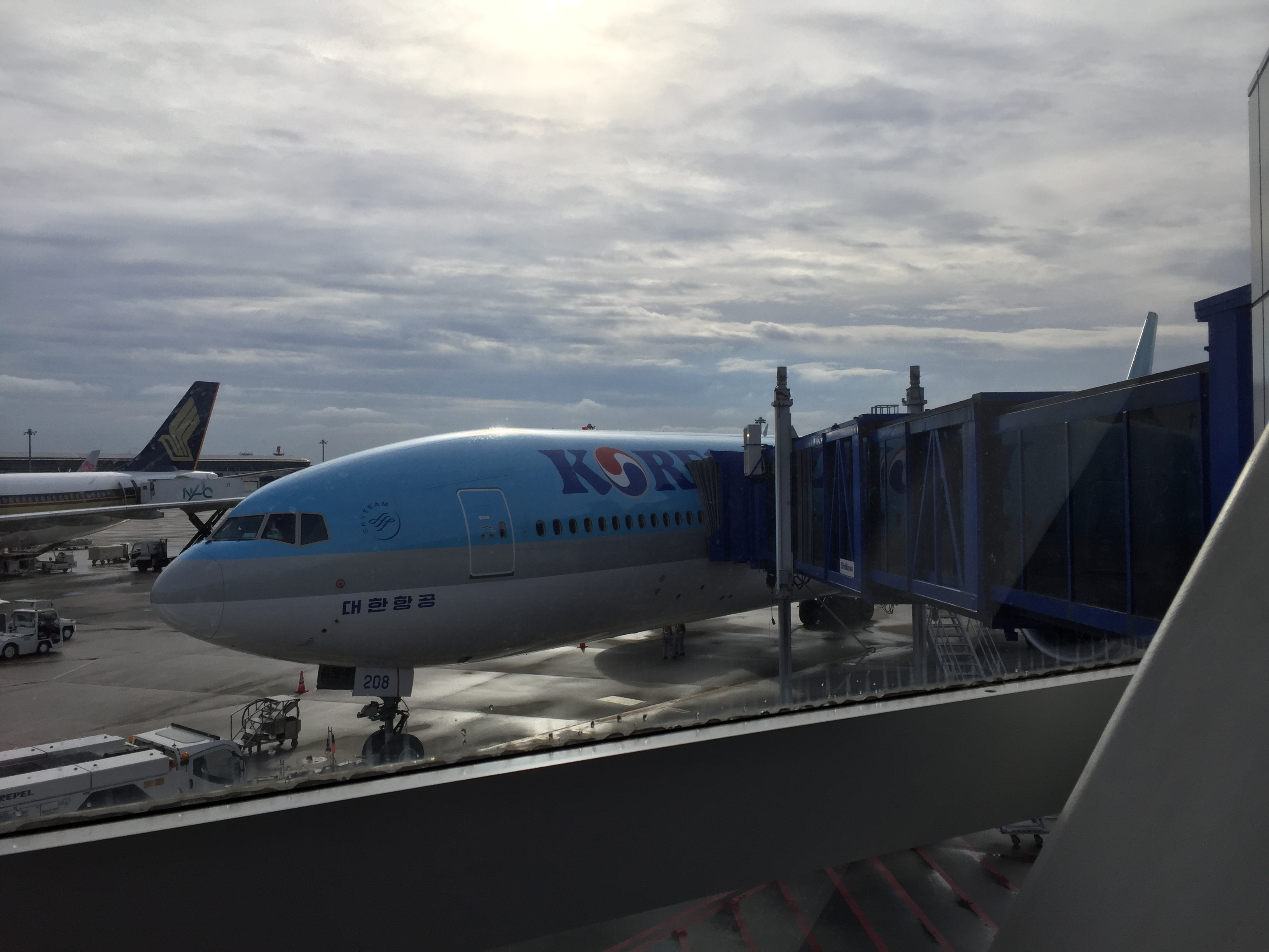 セントレア から韓国へ出発!
