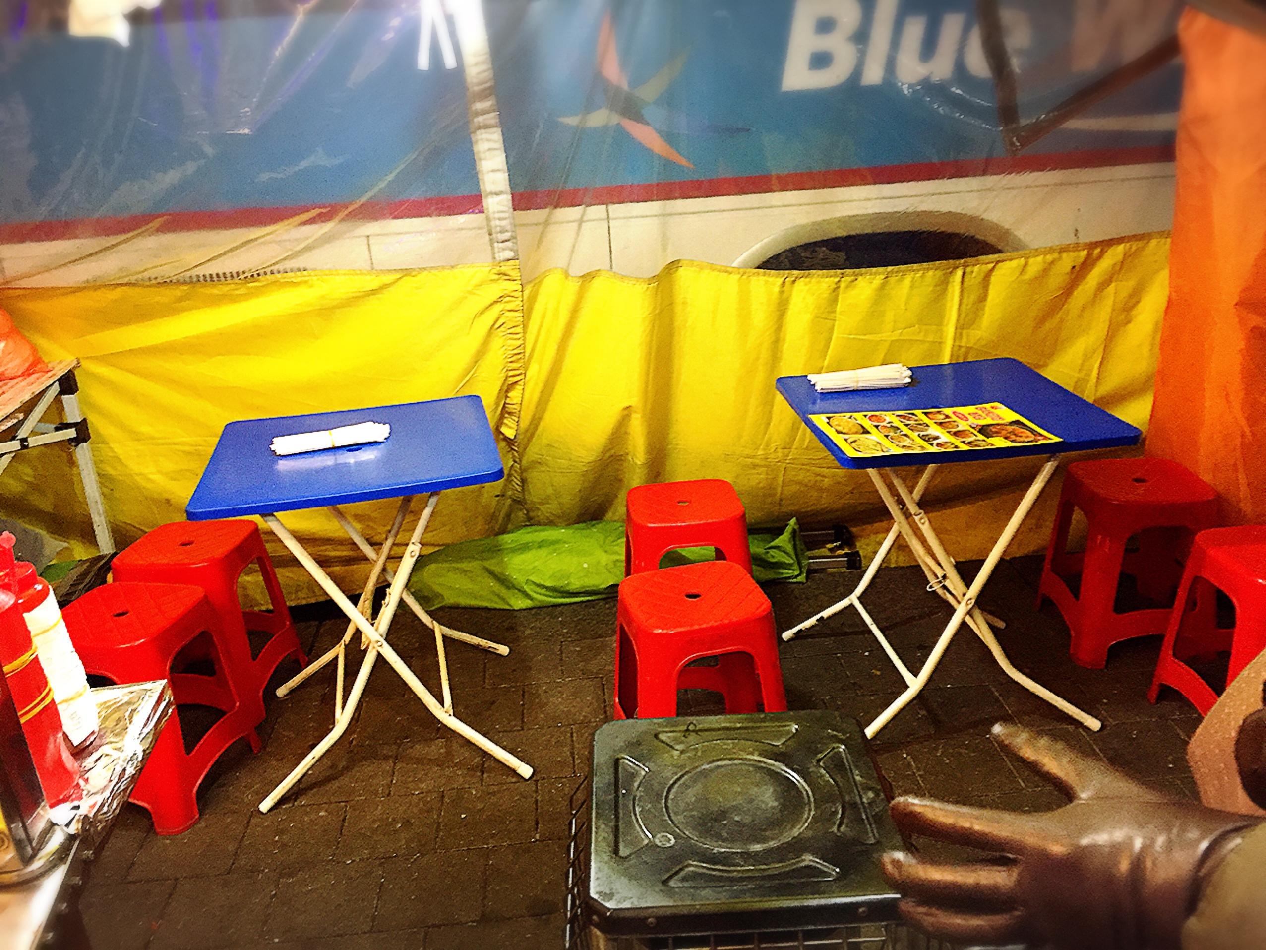 東大門の黄色いテント屋台『ポジャンマチャ』で食べる