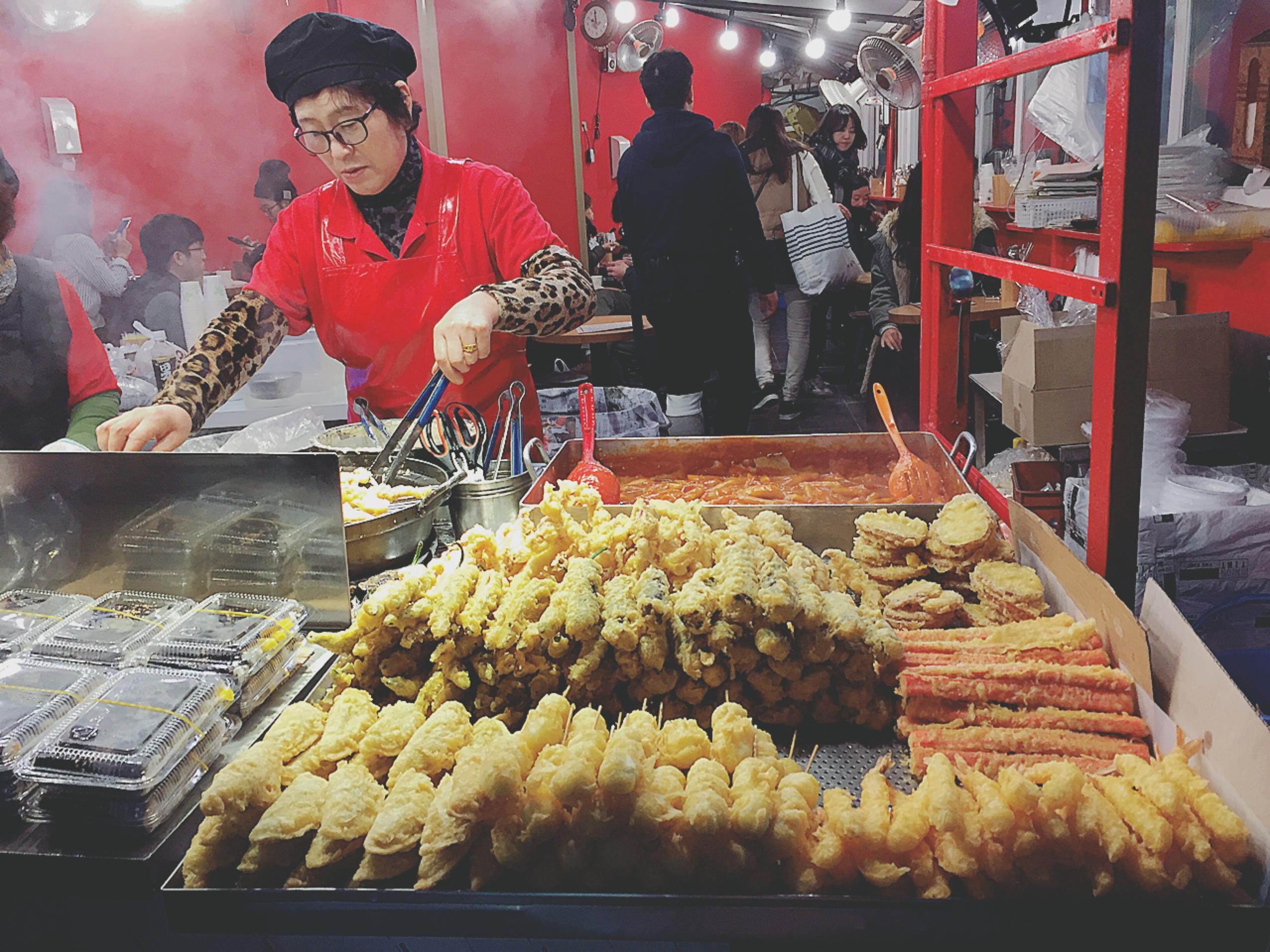 激ウマ天ぷら(ティギム)を食べたくて東大門まで来た